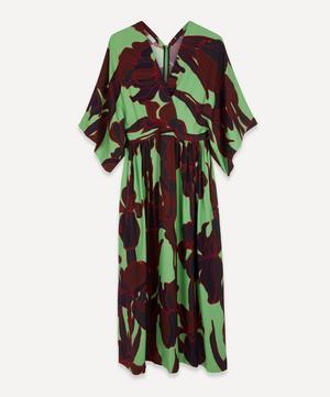 Floral Crepe Midi-Dress