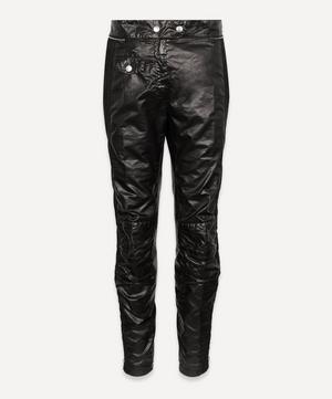 Coated Moto Trousers