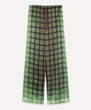 Ombré Checked Satin Trousers