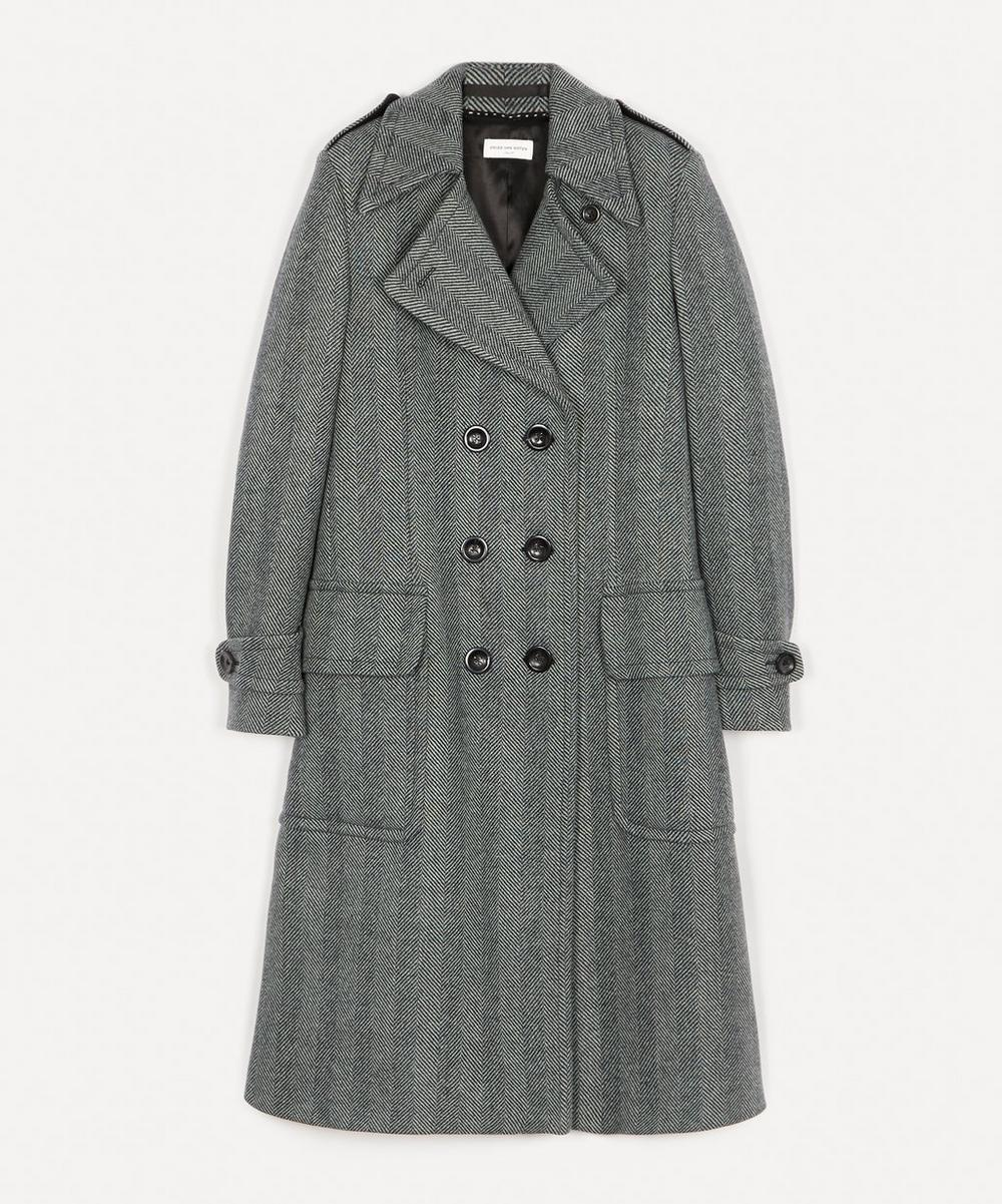 Dries Van Noten - Chevron Wool-Blend Coat