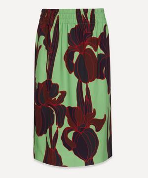 Floral Straight Midi-Skirt