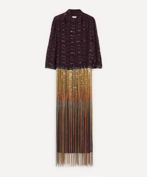 Embellished Fringe Shirt-Dress