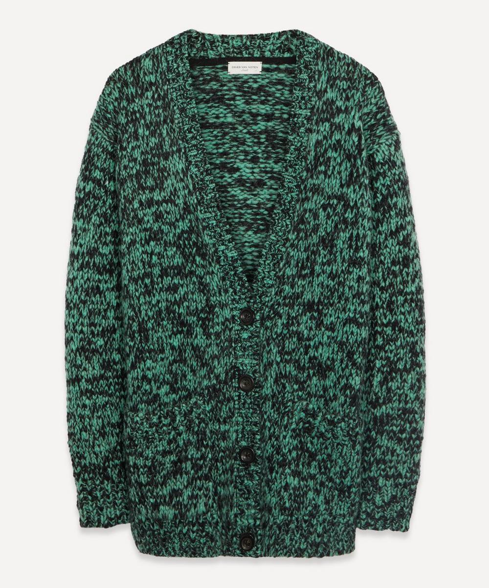 Dries Van Noten - Speckle Wool Oversized Cardigan