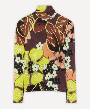 Slim Fit Dark Floral Top