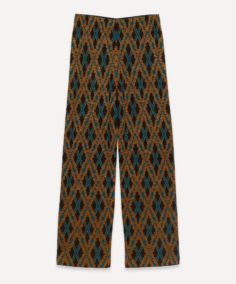 Dries Van Noten - Lurex Diamond Grid Knit Trousers
