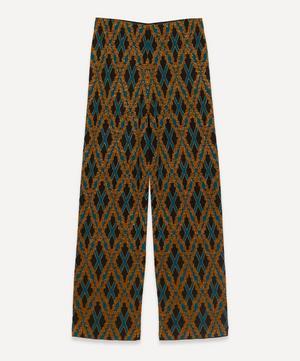 Lurex Diamond Grid Knit Trousers