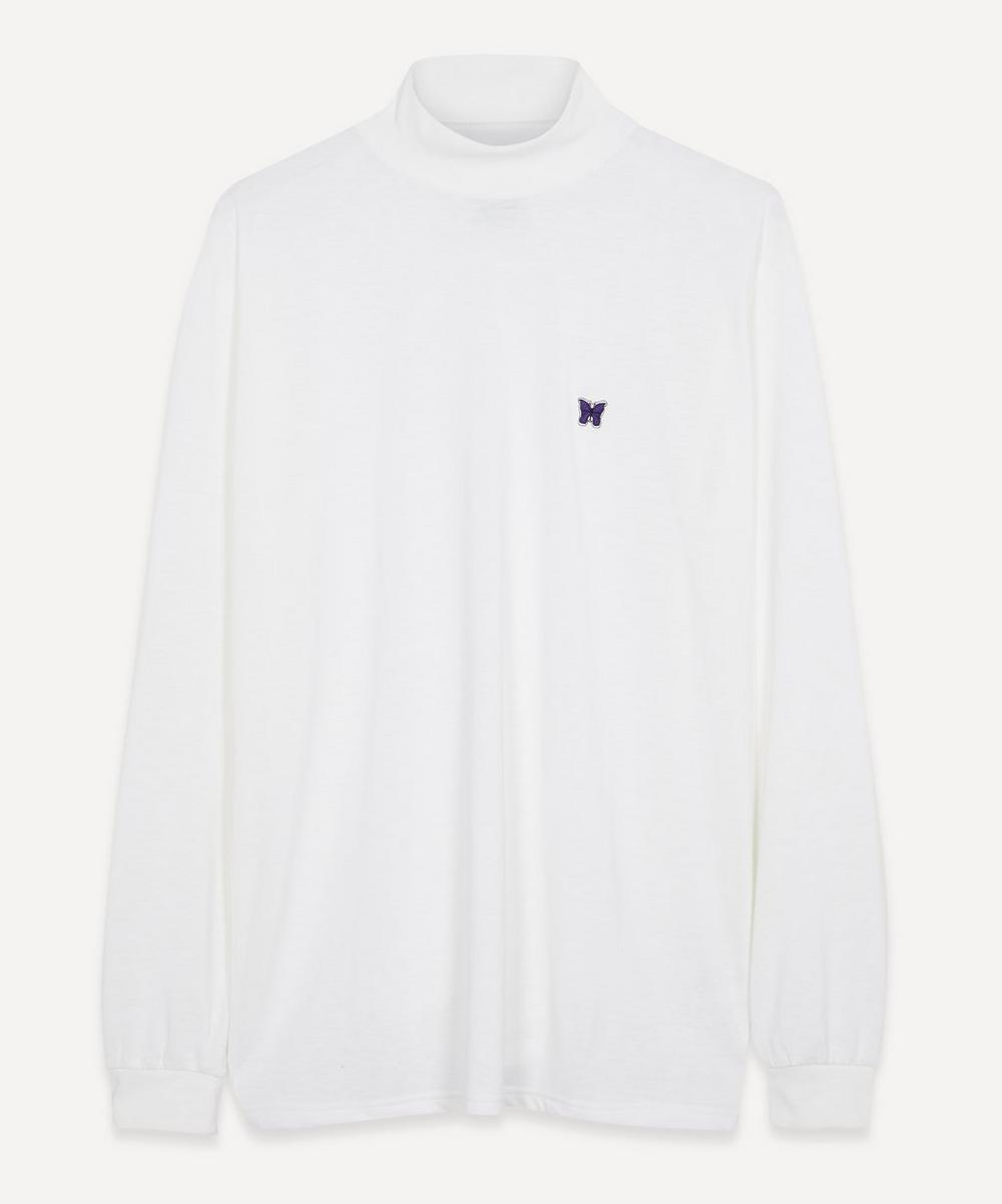 Needles - Papillon Logo-Embroidered Cotton Turtle-Neck Top