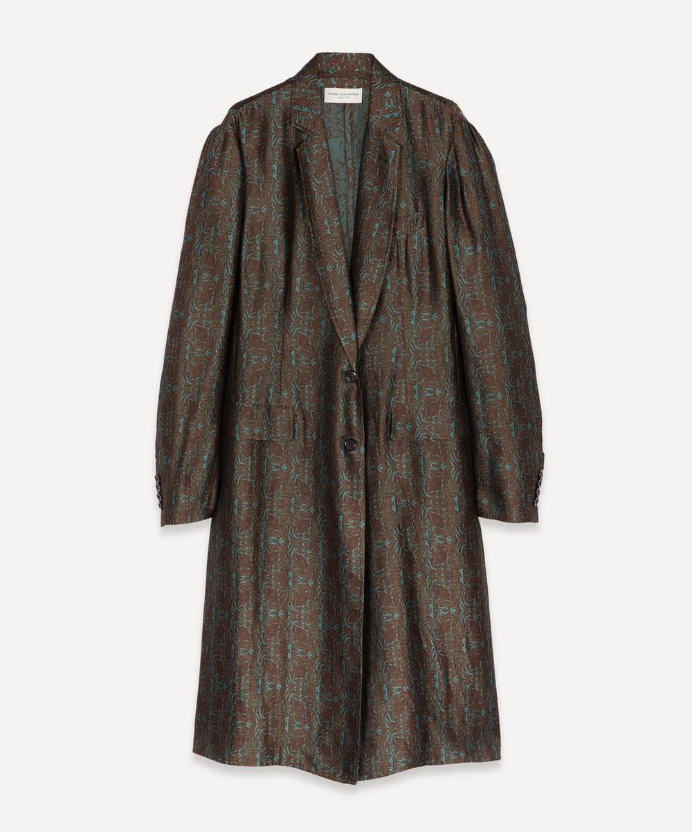 Dries Van Noten - Floral Jacquard Duster Coat