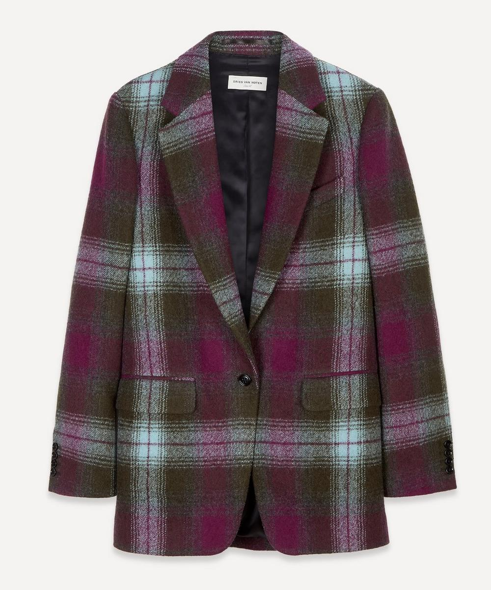 Dries Van Noten - Single-Breasted Check Wool Blazer