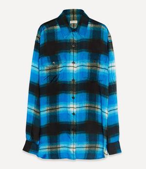 Satin Check Shirt