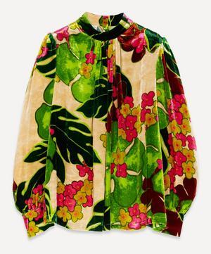 Velvet Floral Top