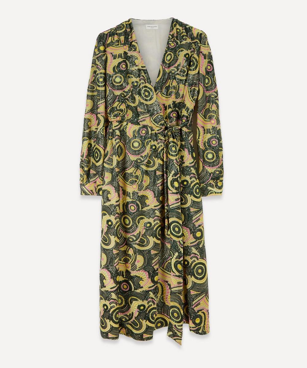 Dries Van Noten - Floral Lamé Wrap-Dress