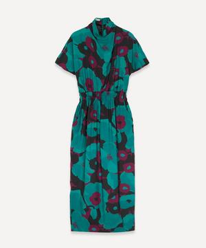 Doria Cowl Neck Floral Print Dress
