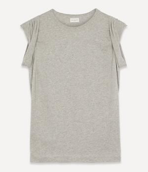 Horty Pleated Cotton T-Shirt