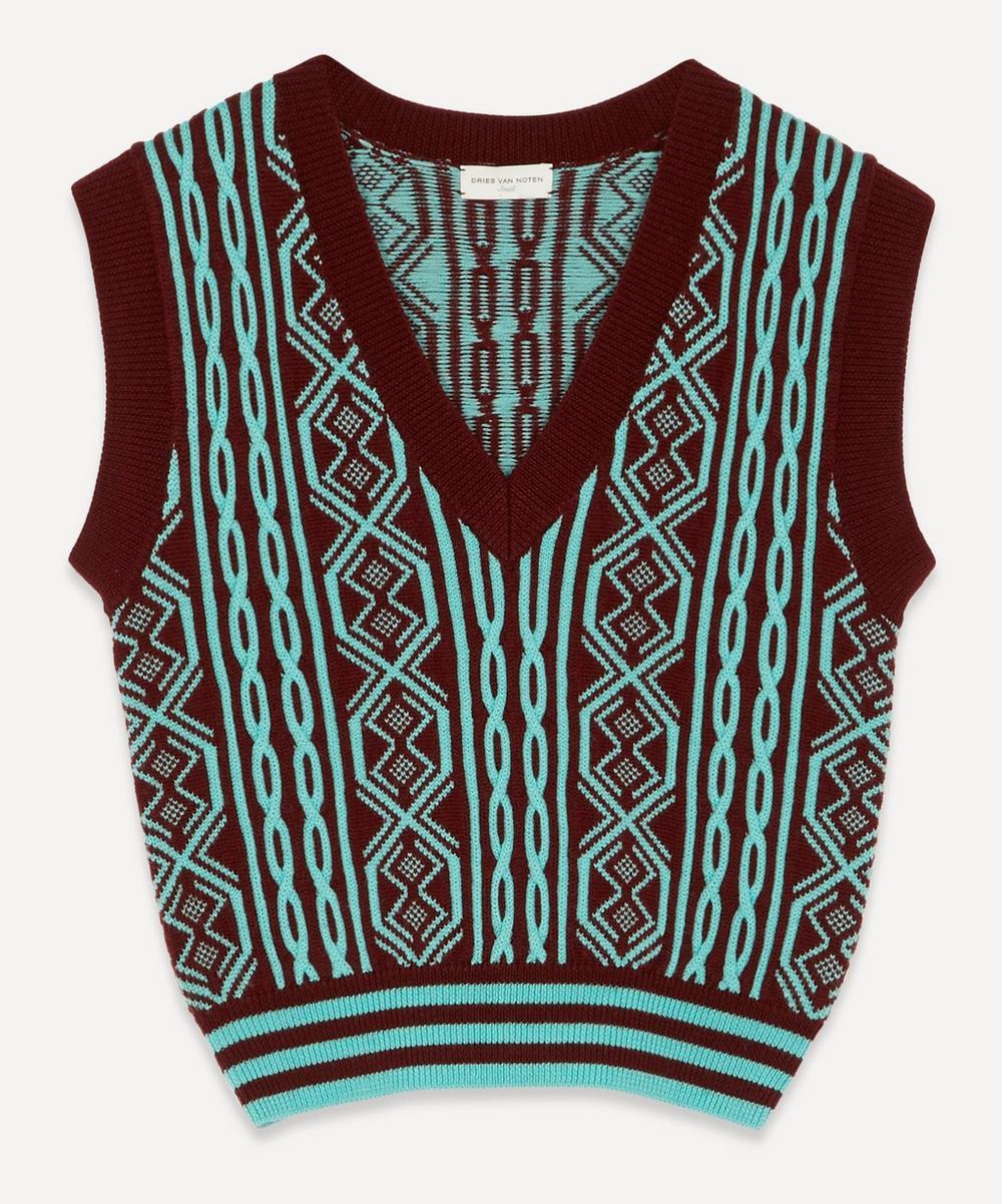 Dries Van Noten - Cropped V-Neck Wool Sweater Vest