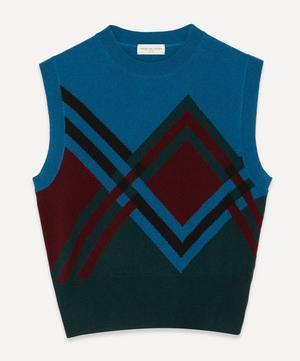 Diamond Knit Sweater Vest