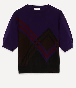 Diamond Knit Short-Sleeved Top