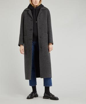 Straight Wool Felt Coat