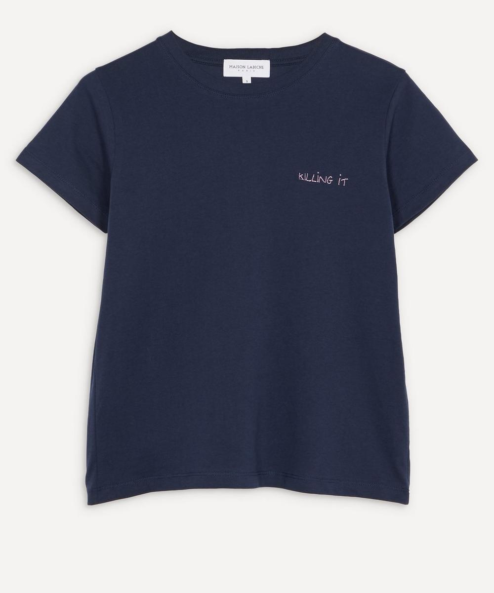 Maison Labiche - Killing It Organic Cotton Boyfriend T-Shirt