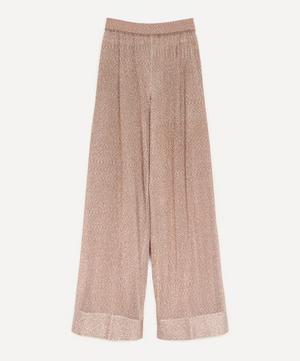 Lurex Wide-Leg Trousers