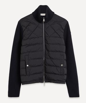 Panelled Wool-Blend and Quilted Shell Down Jacket