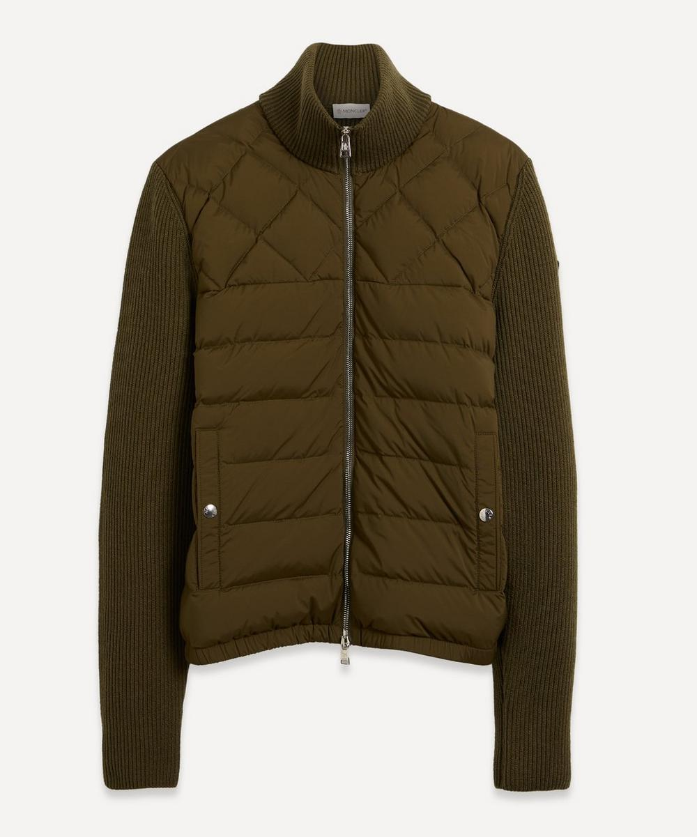 Moncler - Panelled Wool-Blend and Quilted Shell Down Jacket