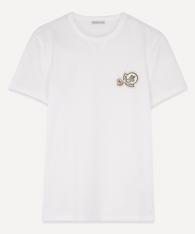 Moncler Ladies Red Big Silky Logo T-Shirt