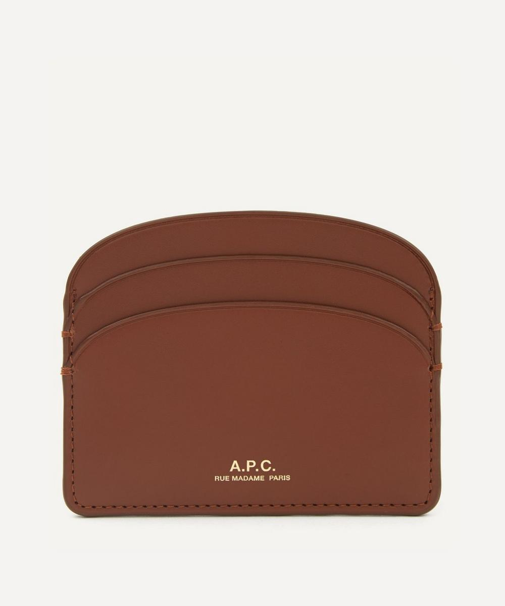 A.P.C. - Half-Moon Leather Card Holder
