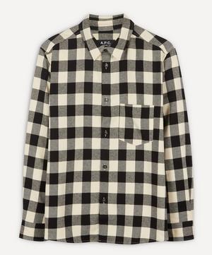 John Checked Twill Overshirt
