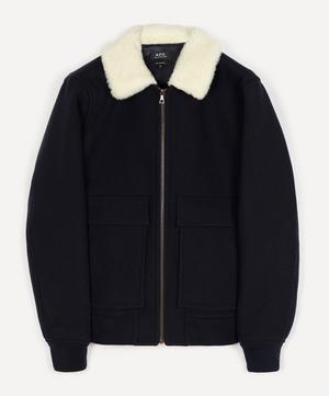 Bronze Wool-Blend Blouson Jacket