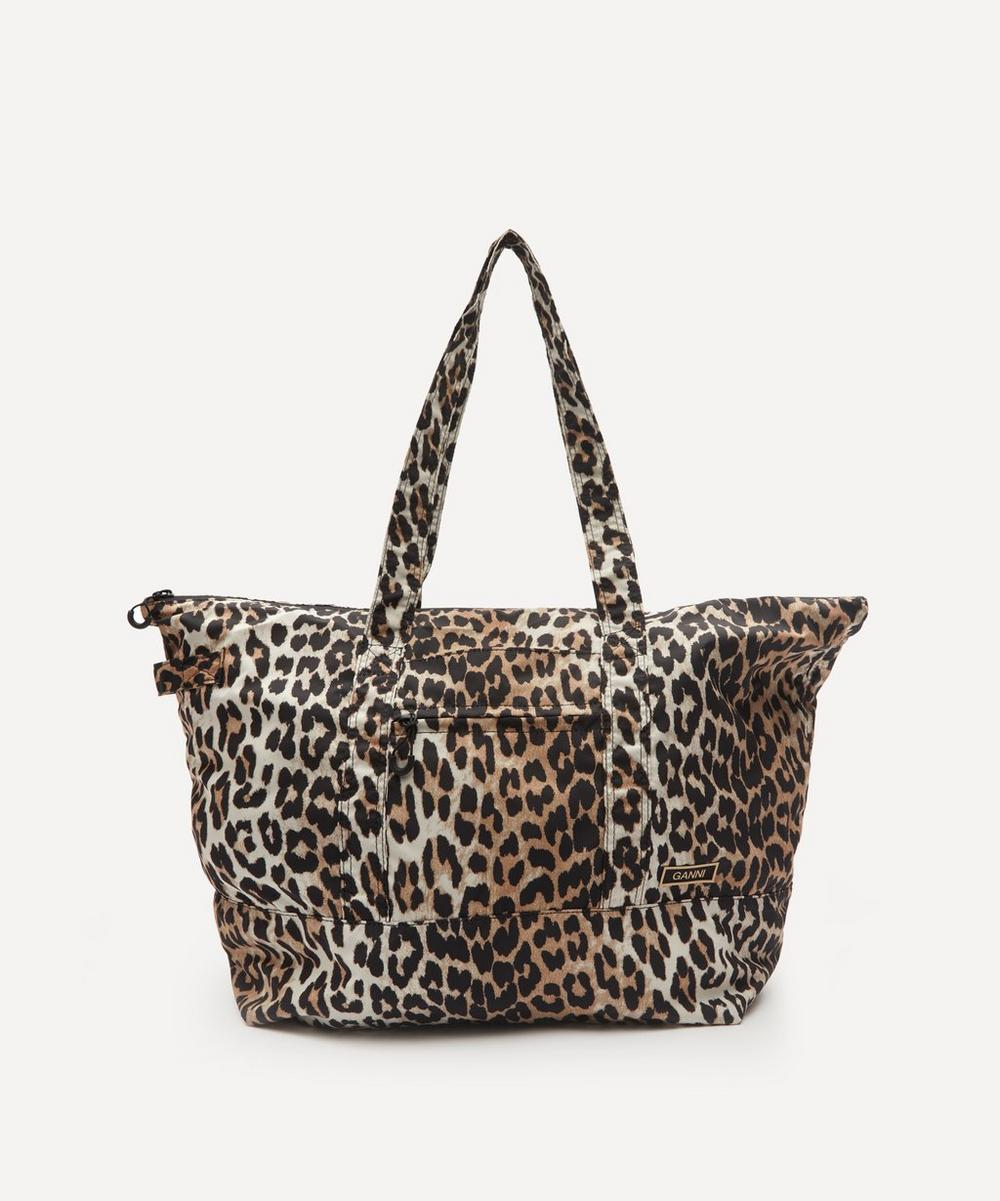Ganni - Recycled Tech Fabric Zip Tote Bag