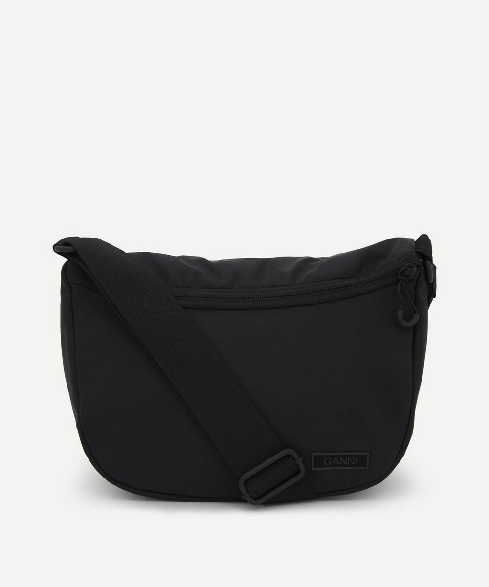Ganni - Recycled Tech Fabric Front Zip Shoulder Bag
