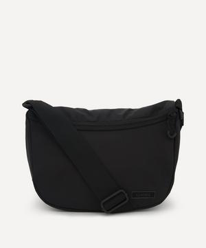 Recycled Tech Fabric Front Zip Shoulder Bag