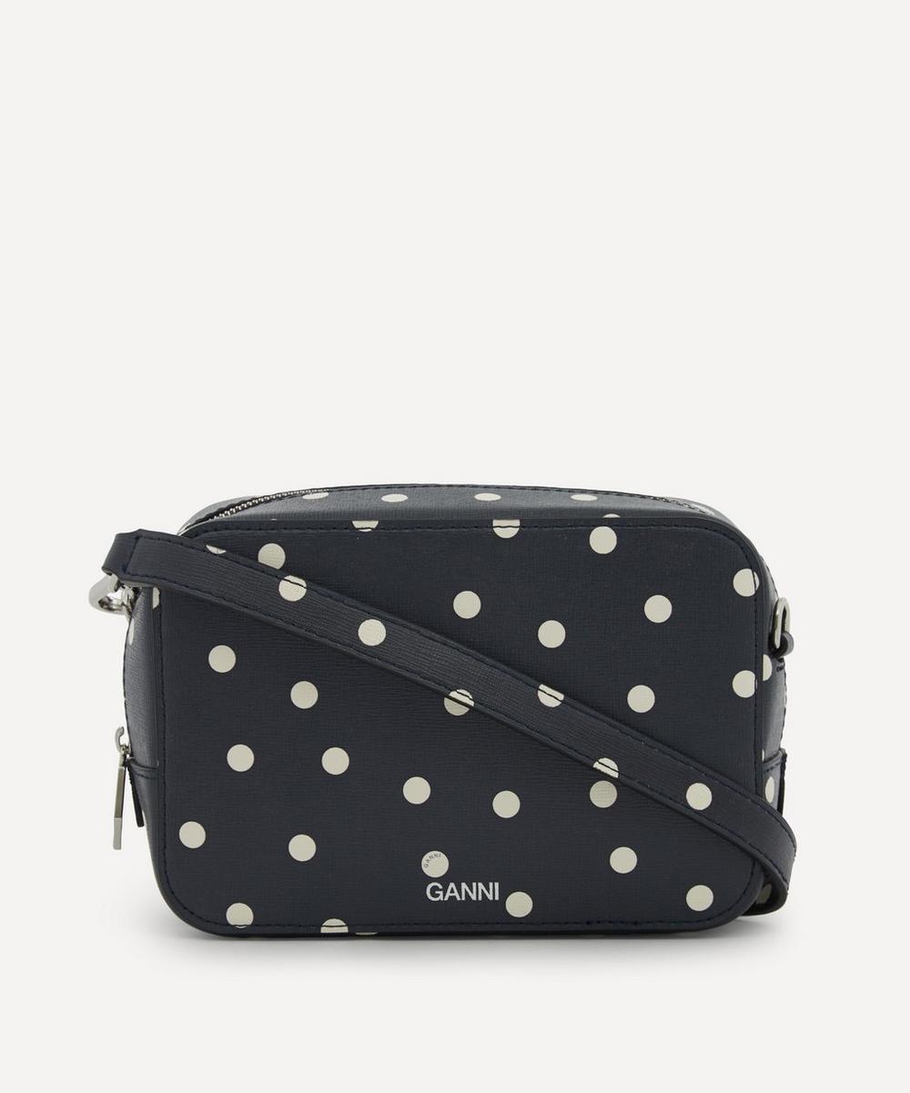 Ganni - Leather Square Frame Cross-Body Bag