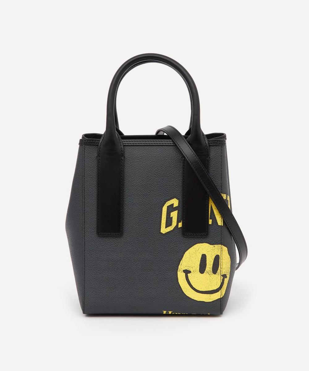 Ganni - Smiley Face Coated Canvas Tote Bag