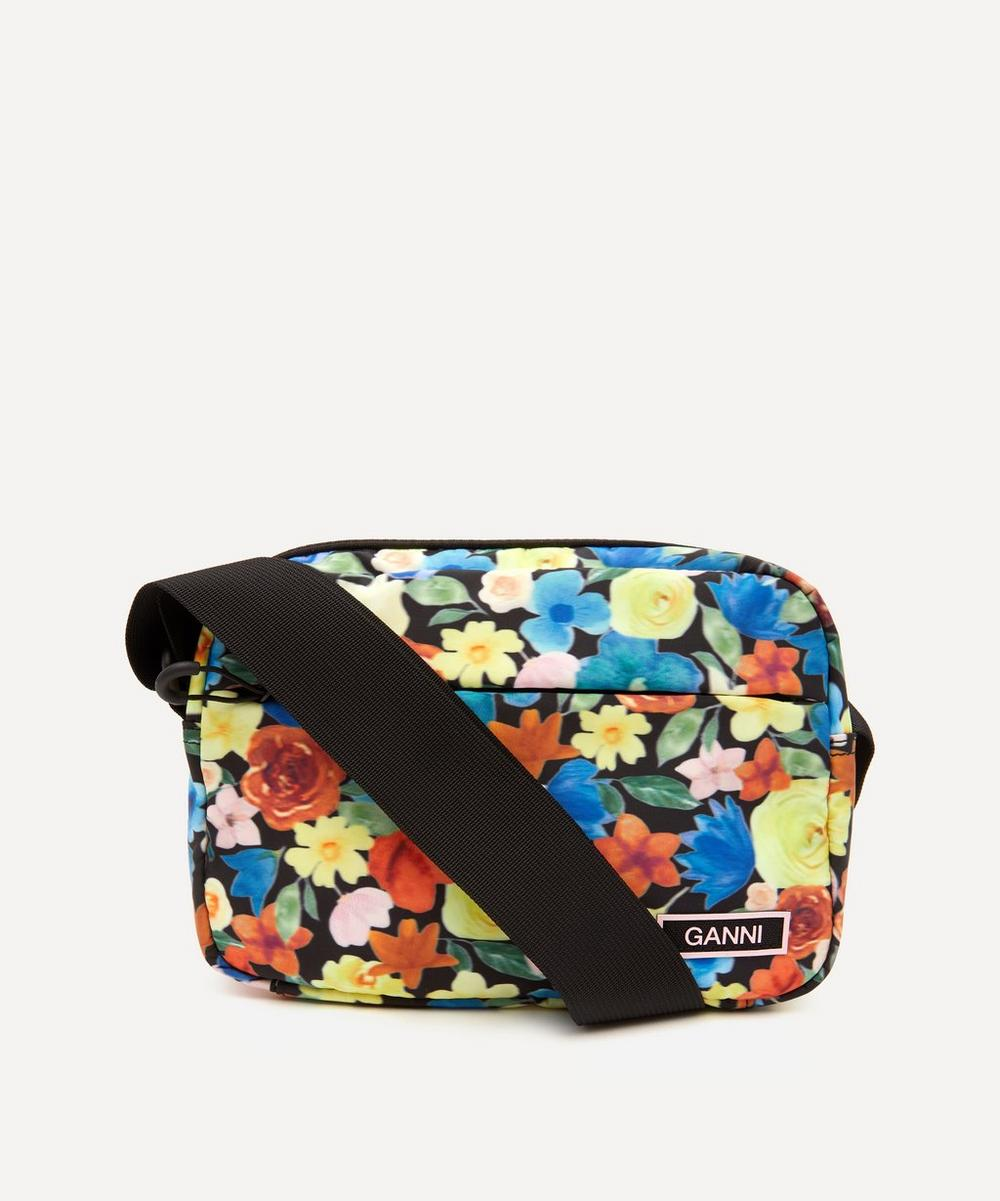 Ganni - Recycled Tech Fabric Cross-Body Bag
