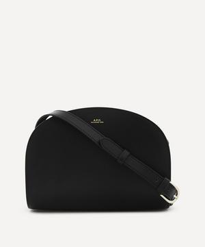 Leather Demi-Lune Bag