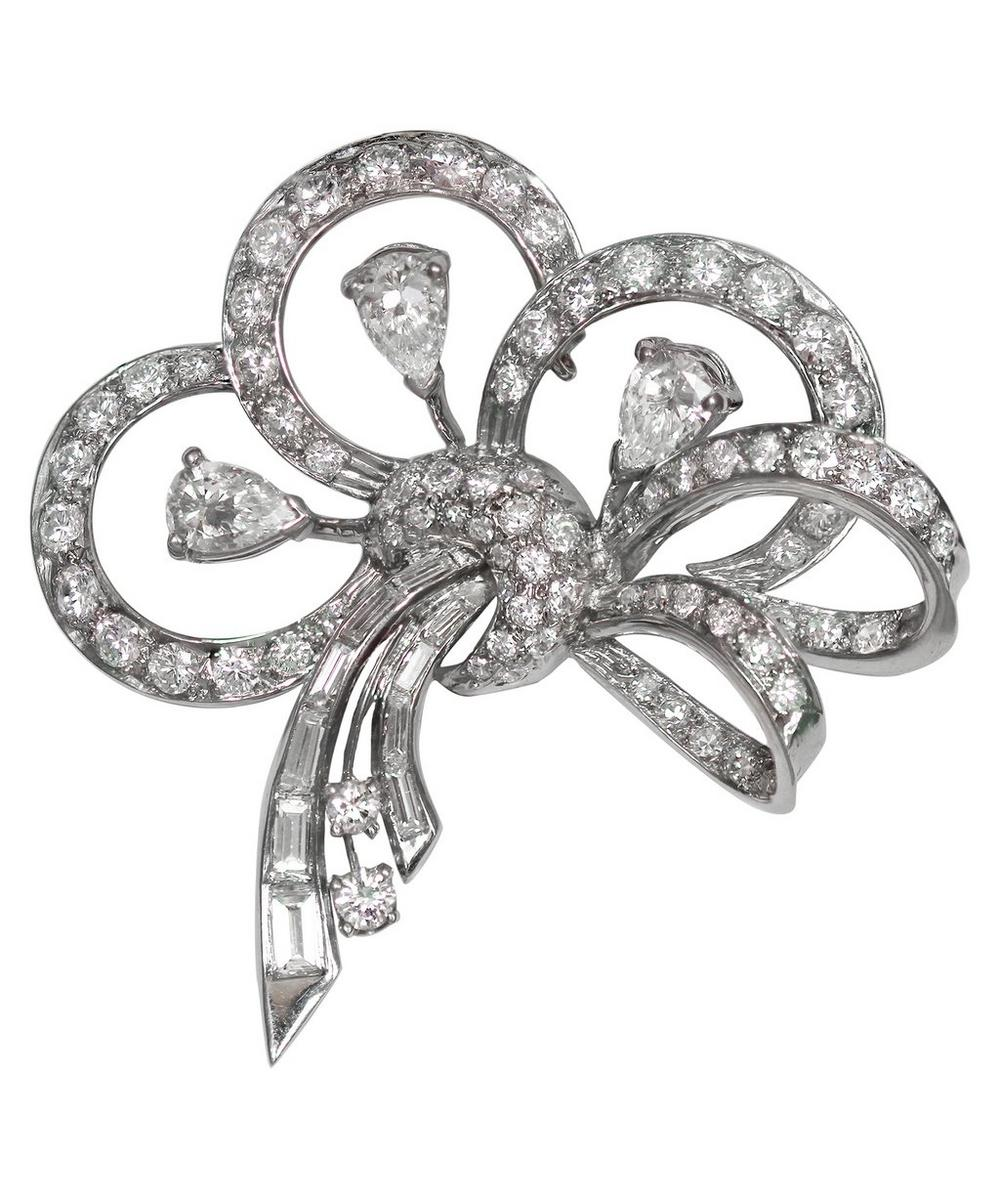 Kojis - White Gold Art Deco Diamond Brooch