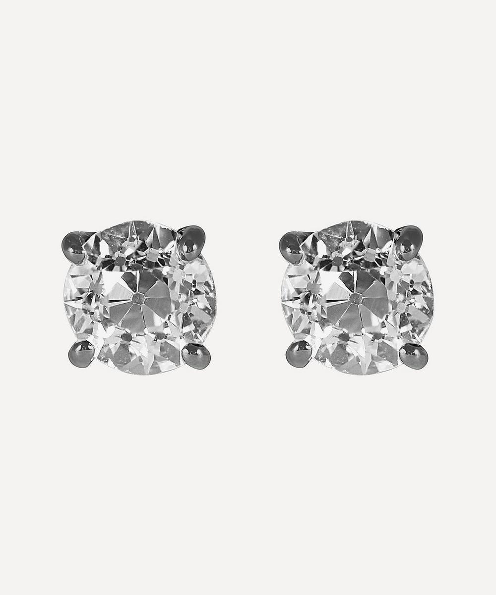 Kojis - White Gold 1.53ct Old Cut Diamond Stud Earrings