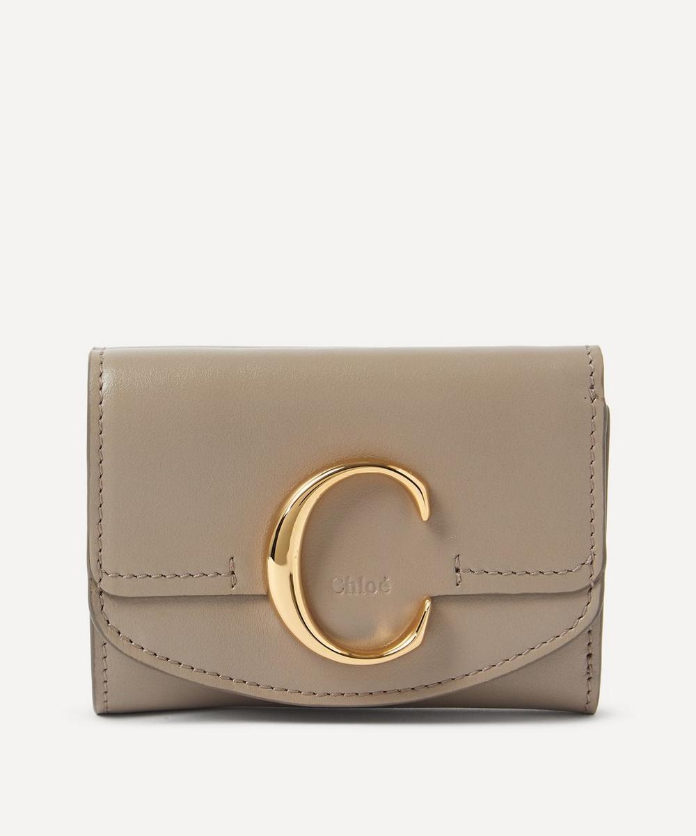 Chloé - Chloé C Mini Leather Tri-Fold Wallet