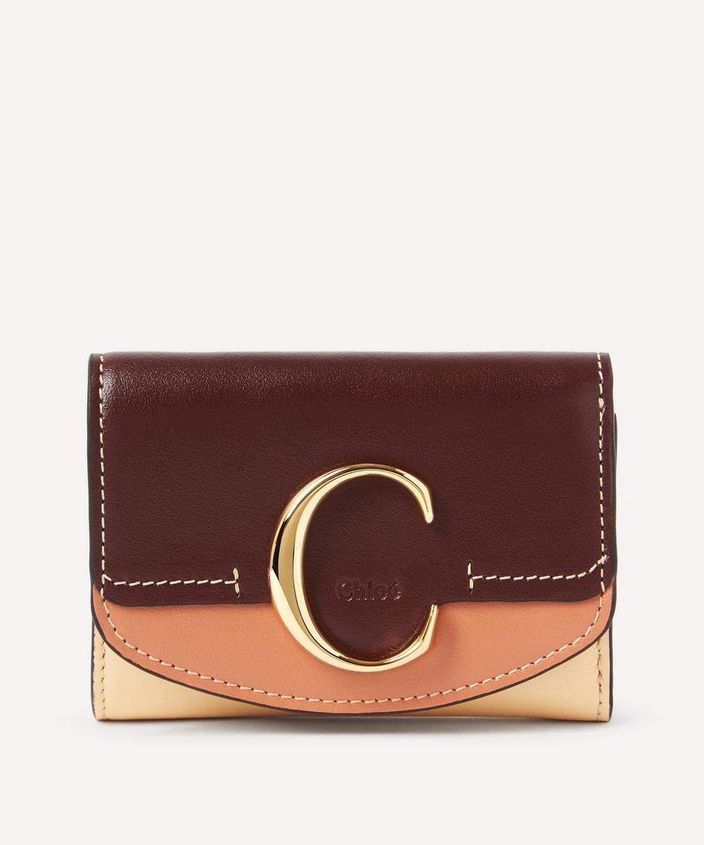 Chloé - Chloé C Small Leather Tri-Fold Wallet