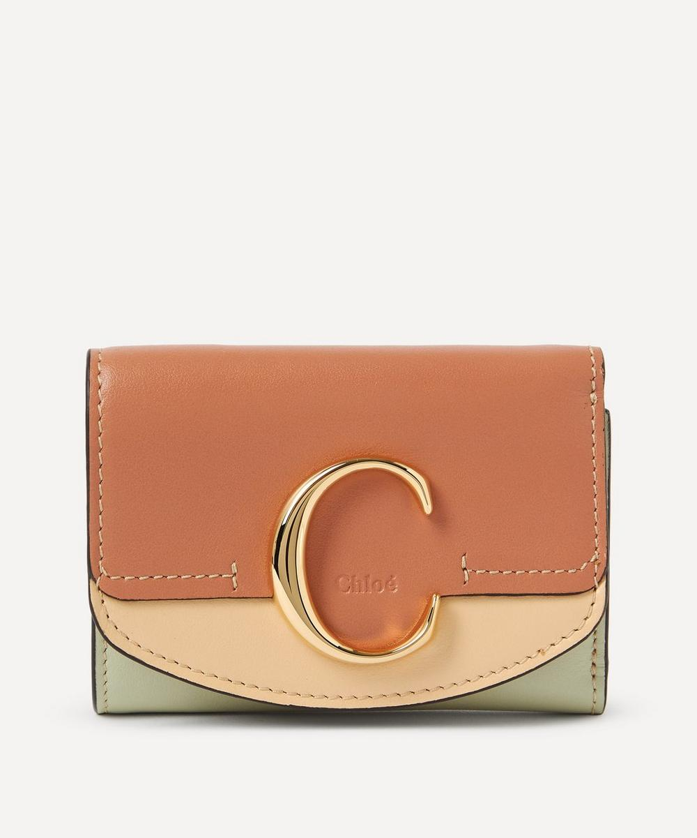 Chloé - Chloé C Small Leather Tri-Fold Wallet image number 0