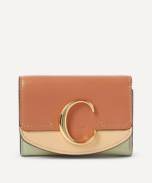 Chloé C Small Leather Tri-Fold Wallet