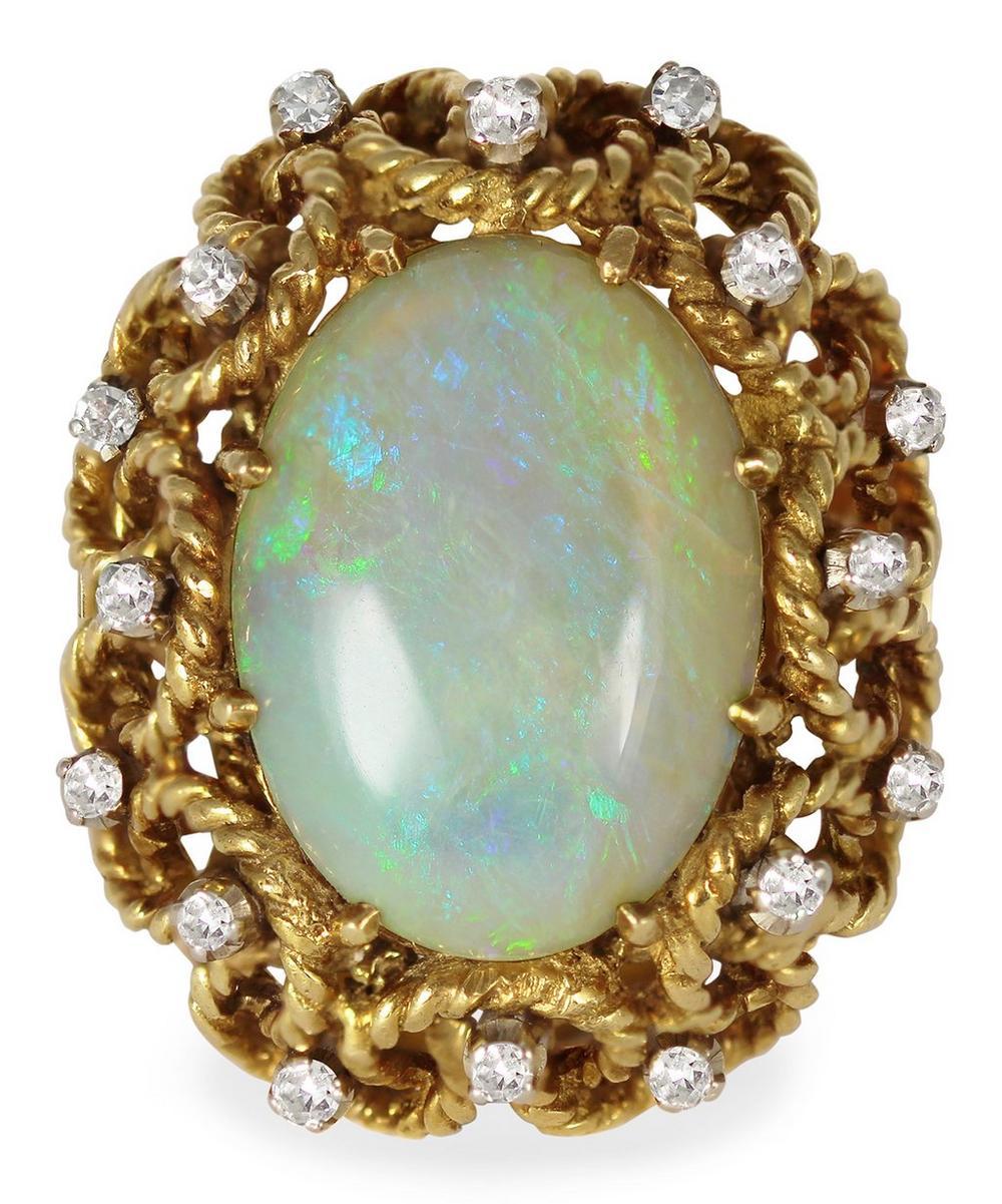Kojis - Gold Vintage Opal Cocktail Ring