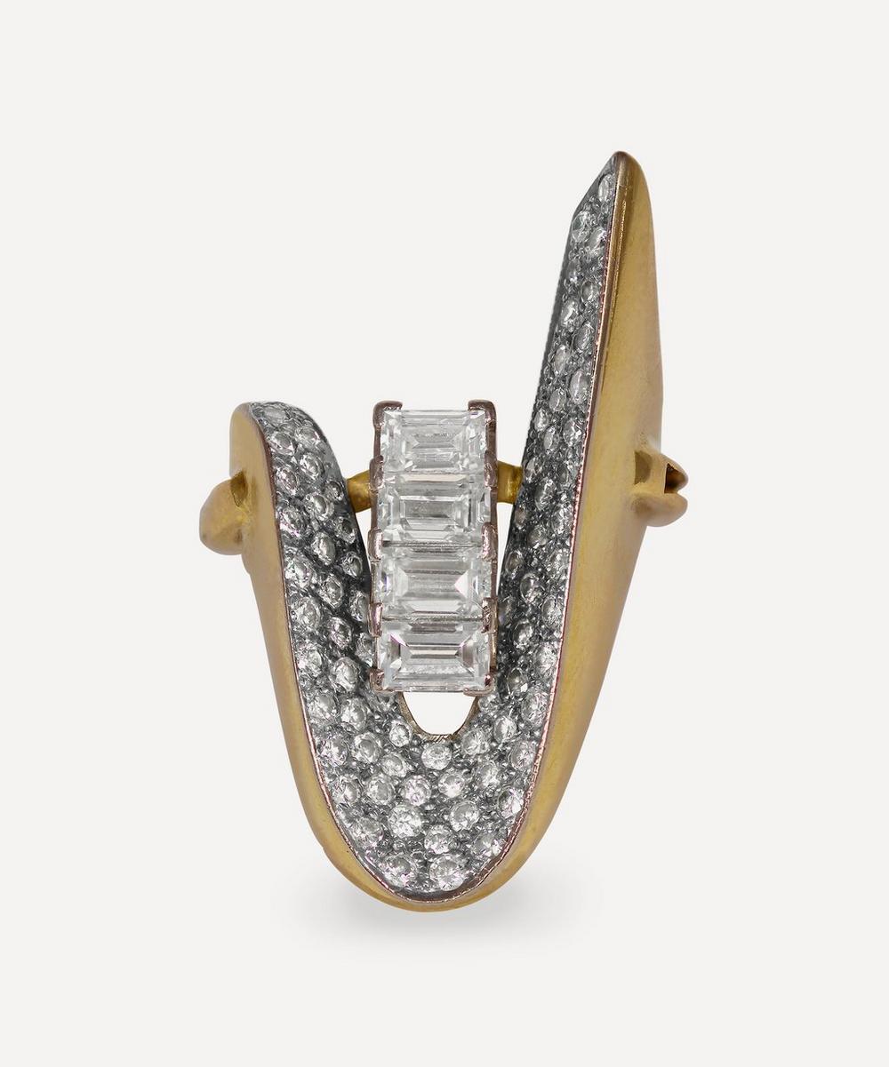 Kojis - Gold 1960s Diamond Cocktail Ring