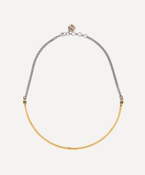 Two-Tone Skull Choker Necklace