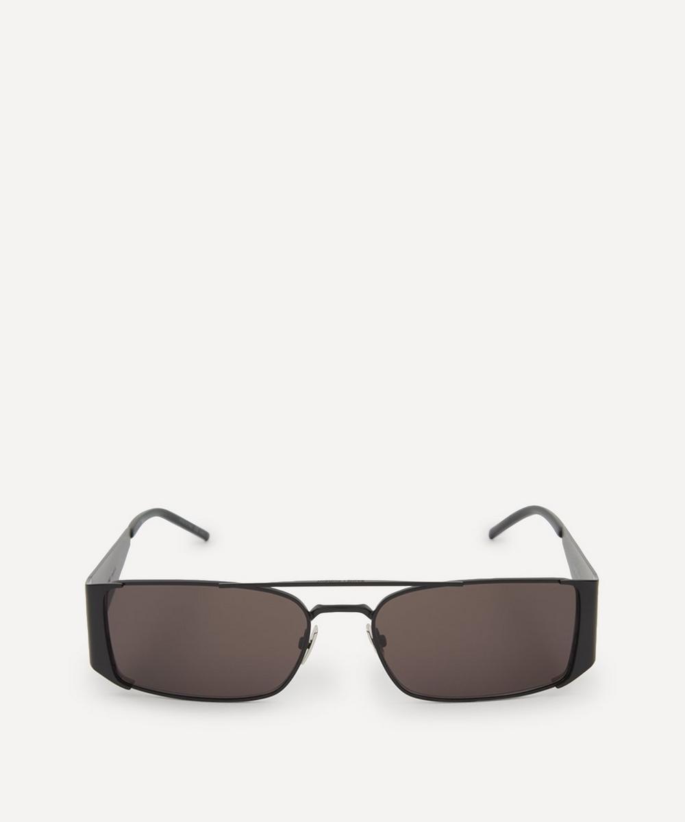 Saint Laurent - Lenny Rectangular Metal Double-Bridge Sunglasses