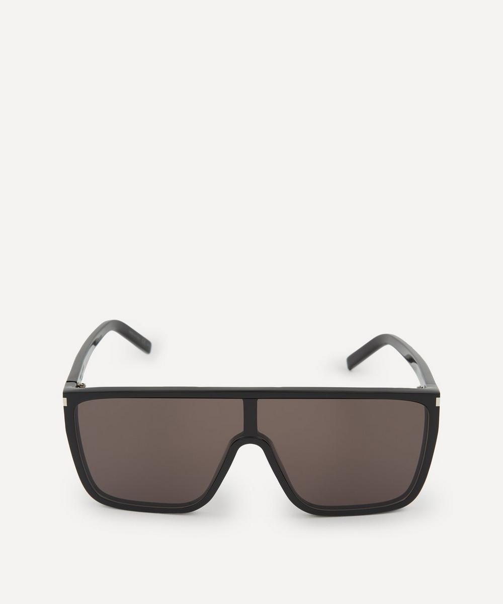 Saint Laurent - Flat Top Acetate Mask Sunglasses