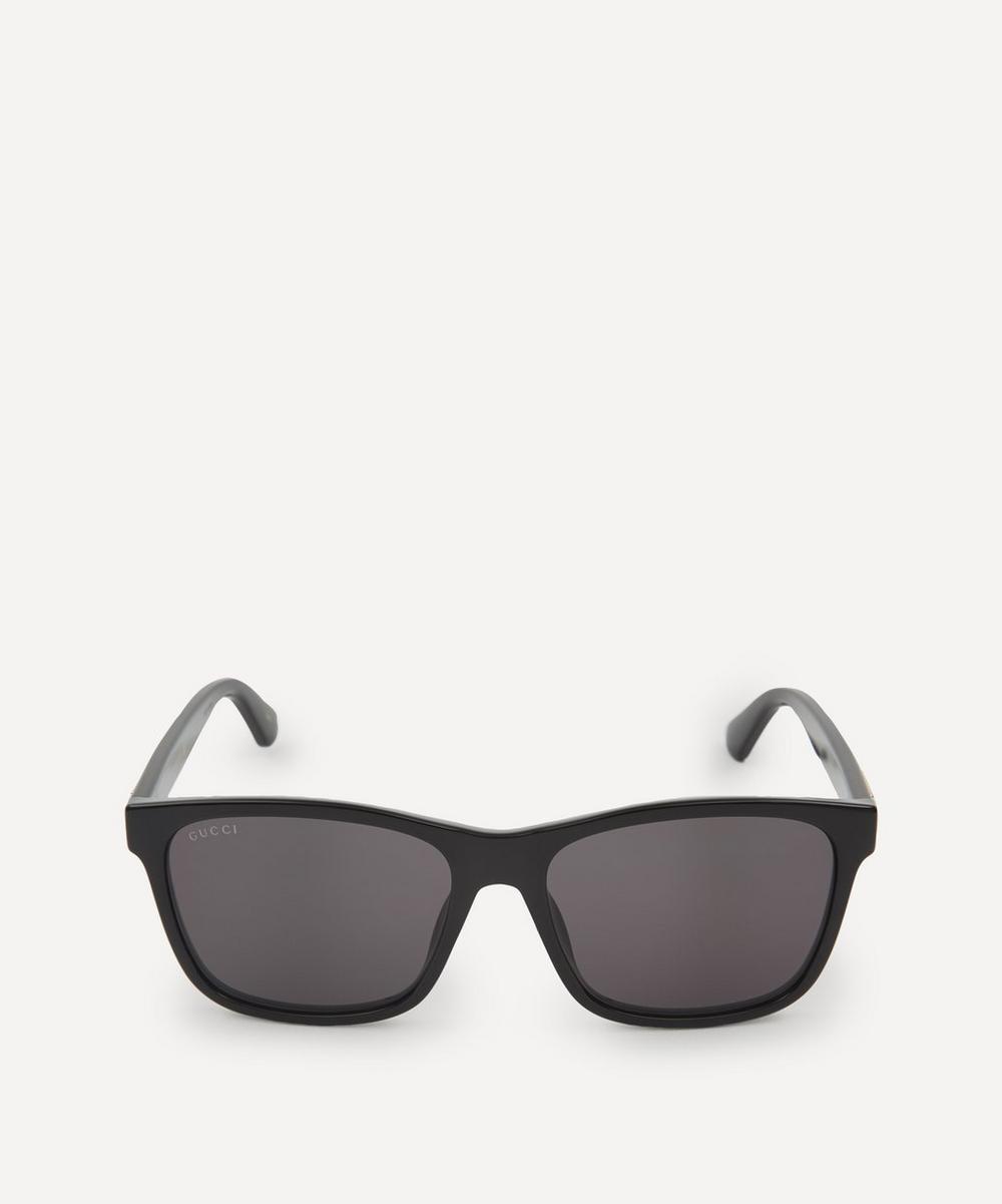 Gucci - Classic Square Acetate Web Stripe Sunglasses