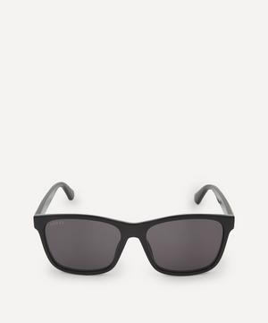 Classic Square Acetate Web Stripe Sunglasses
